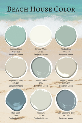 Designing Your Summer Home For Family Friendly Living Beach House Colors Beach House Interior Paint Colors For Home