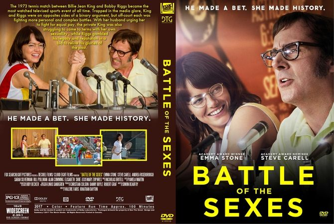 Battle Of The Sexes 2017 Dvd Custom Cover Custom Dvd Dvd
