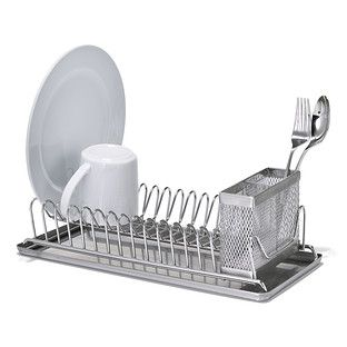 Polder Stainless Steel Compact Dish Rack With Images Dish Rack