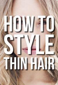 How To Style Thin Hair -   17 fine hair Tips ideas