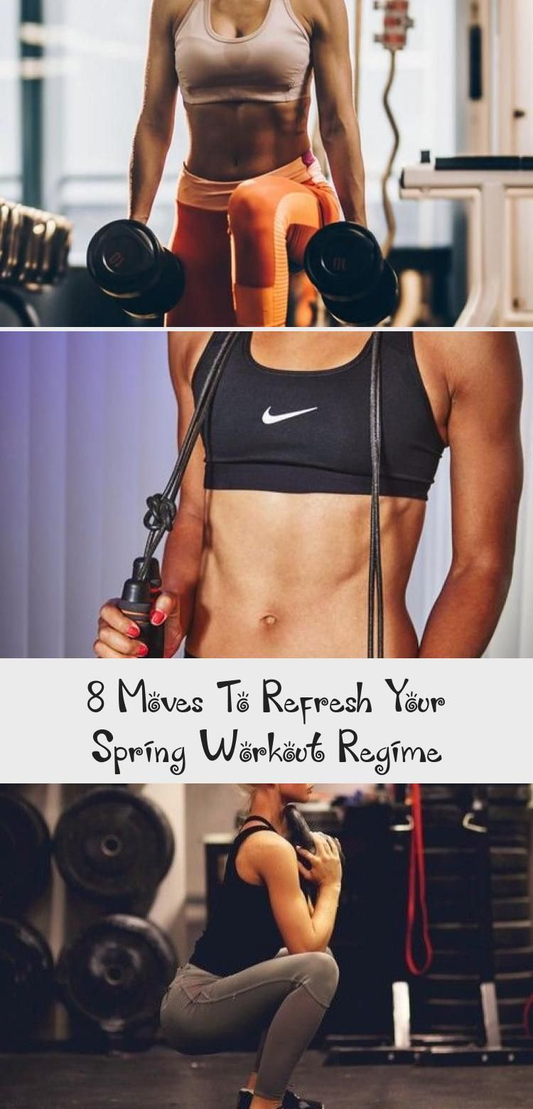8 Moves To Refresh Your Spring Workout Regime. #FitnessInspo #Fitness #womensfitness #workout #healt...