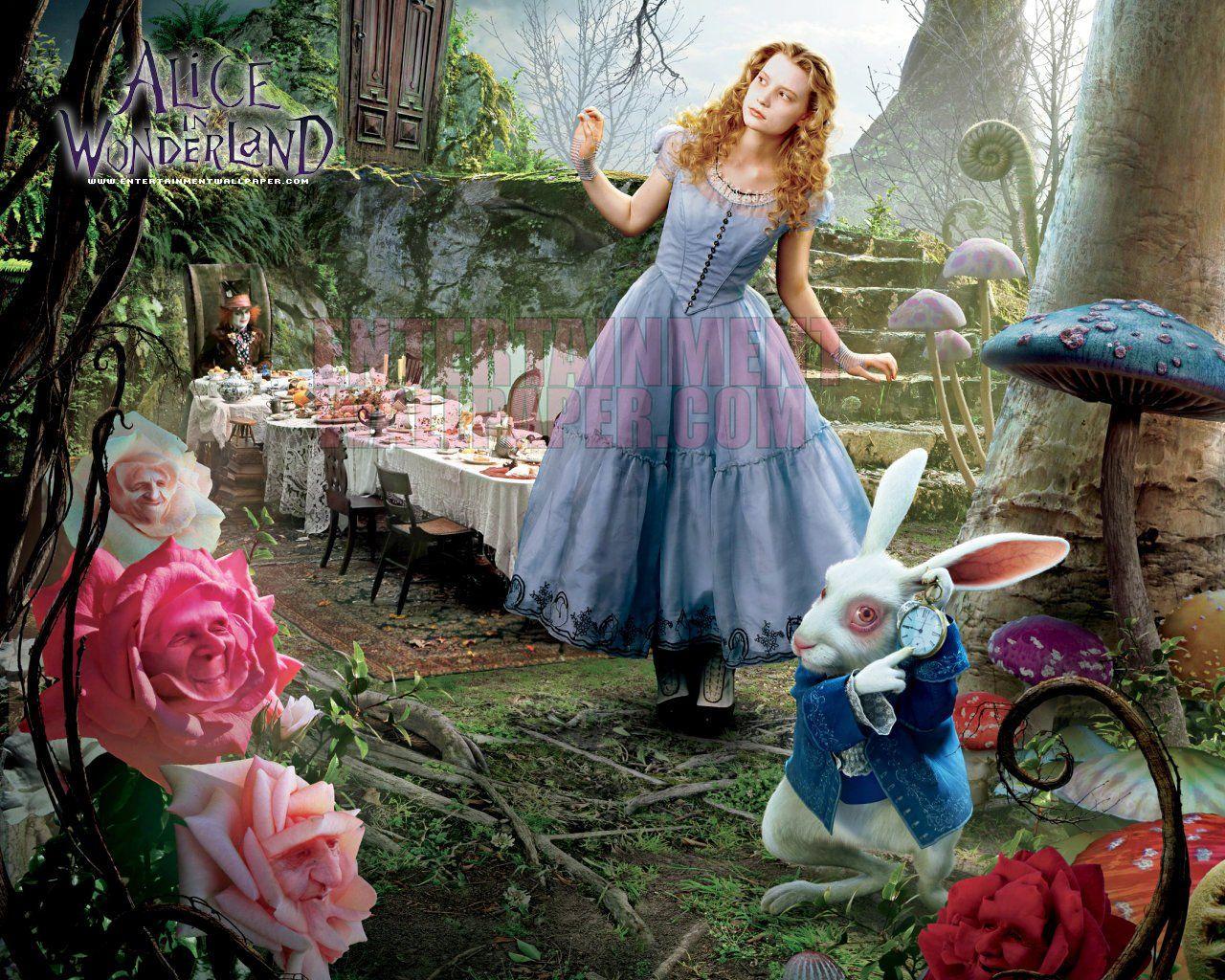 Alice In Wonderland Wallpaper 10020177 Desktop Download Page Hd