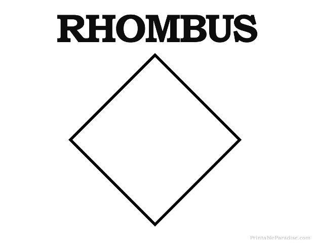 Printable Rhombus Shape Rhombus Shape Printable Shapes Shapes