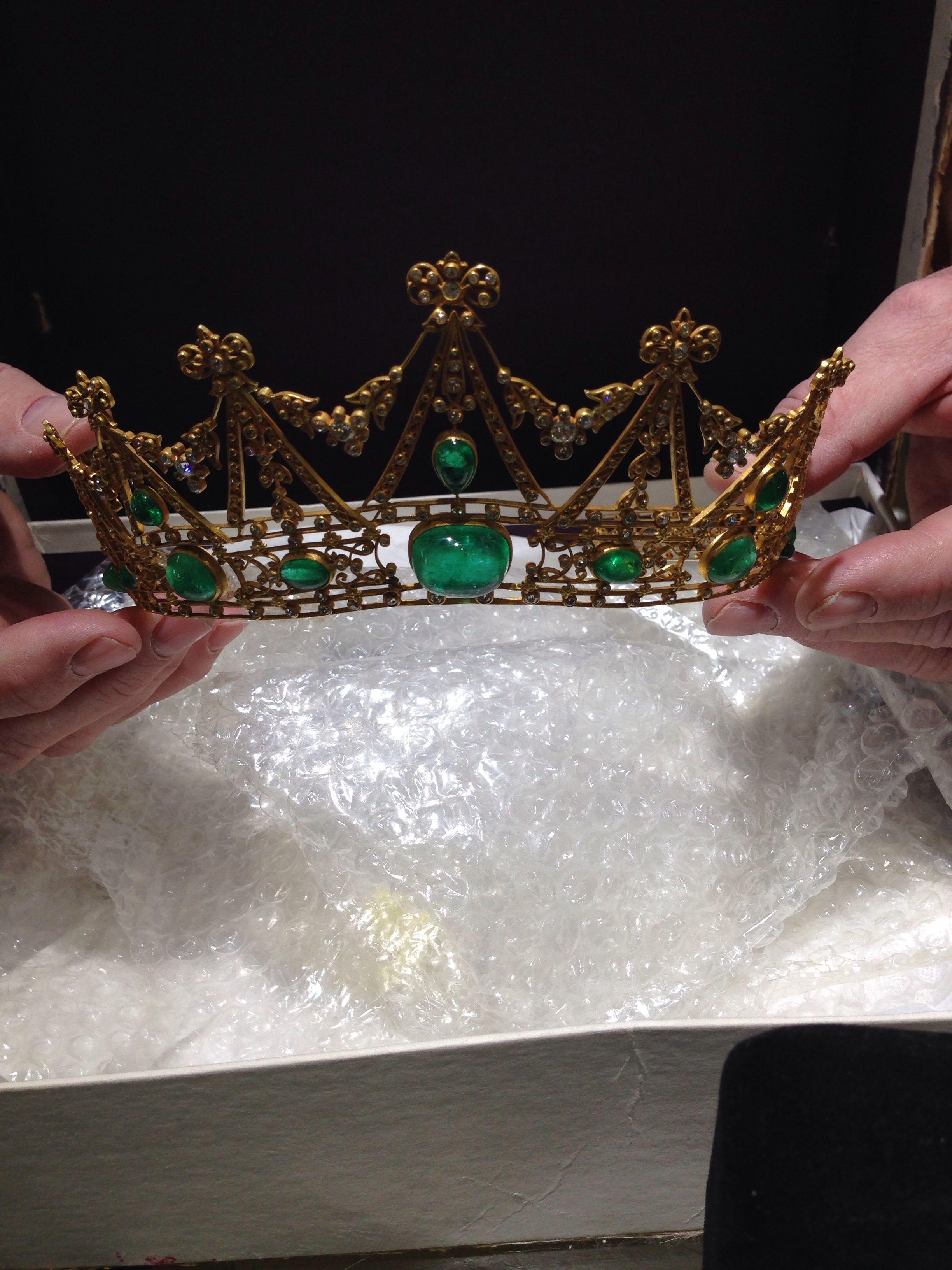 1905 Tiffany & Co Tiara Emerald and Diamond