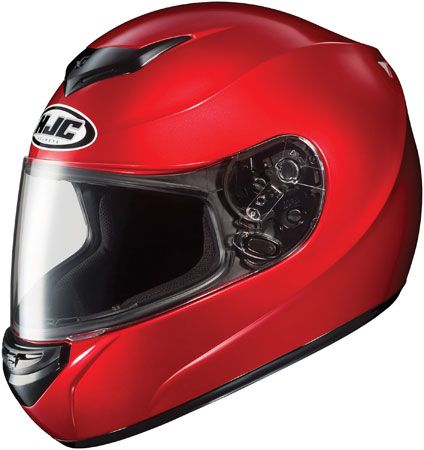 Available from HelmetCity.com, #HJC_Helmet can brave any #motorcycle riding conditions. The HJC CS-R2 Helmet (Candy Red) is characterized by bold design and rugged construction.