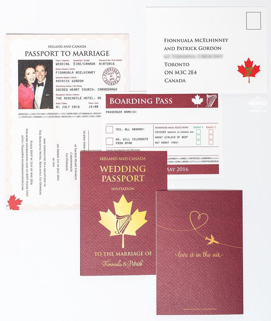passport wedding invitation set http://www.wedfest.co/wedding ...