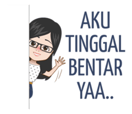 New Funny Emoji  Jelita is an attractive girl who has a long distance relationship. Use this sticker set for conversation with your loved one :) 6