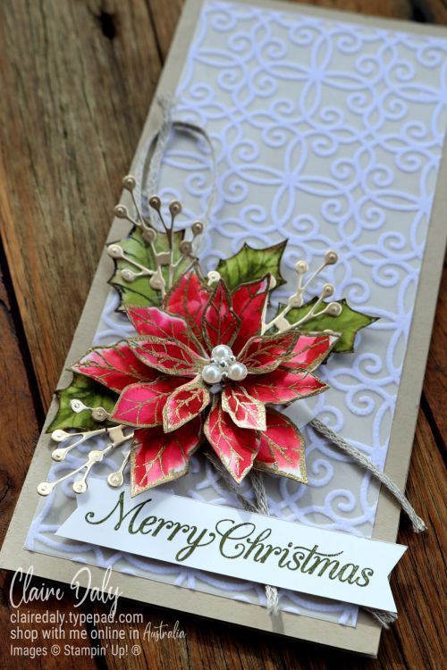Poinsettia Petals 2020 Christmas Card