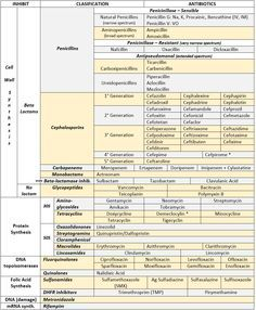 Pharmacology of Antibiotic Class – mostly new information .. sometimes occur in sophomore medical students who cram before a pharmacology exam).
