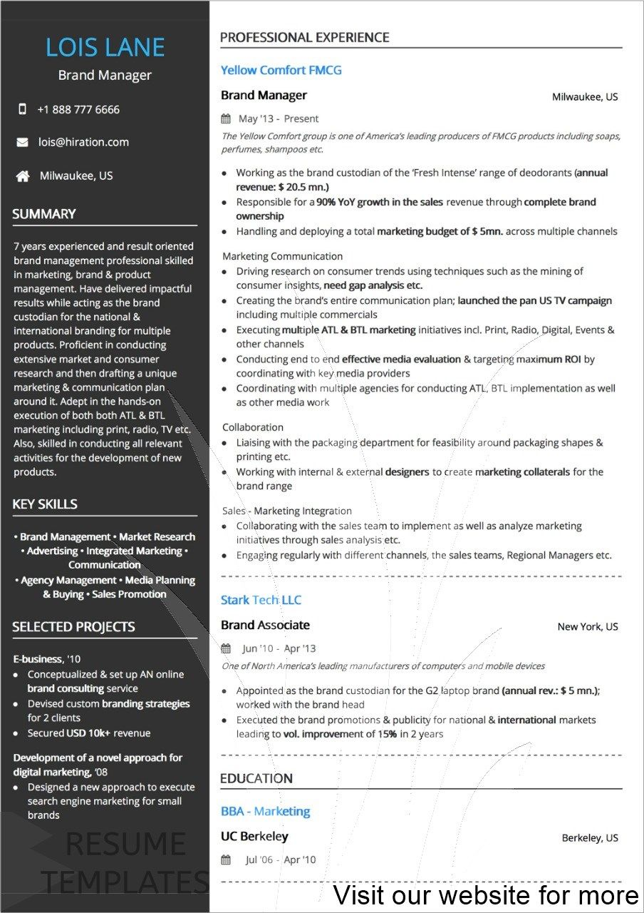 resume template download free psd in 2020 Resume