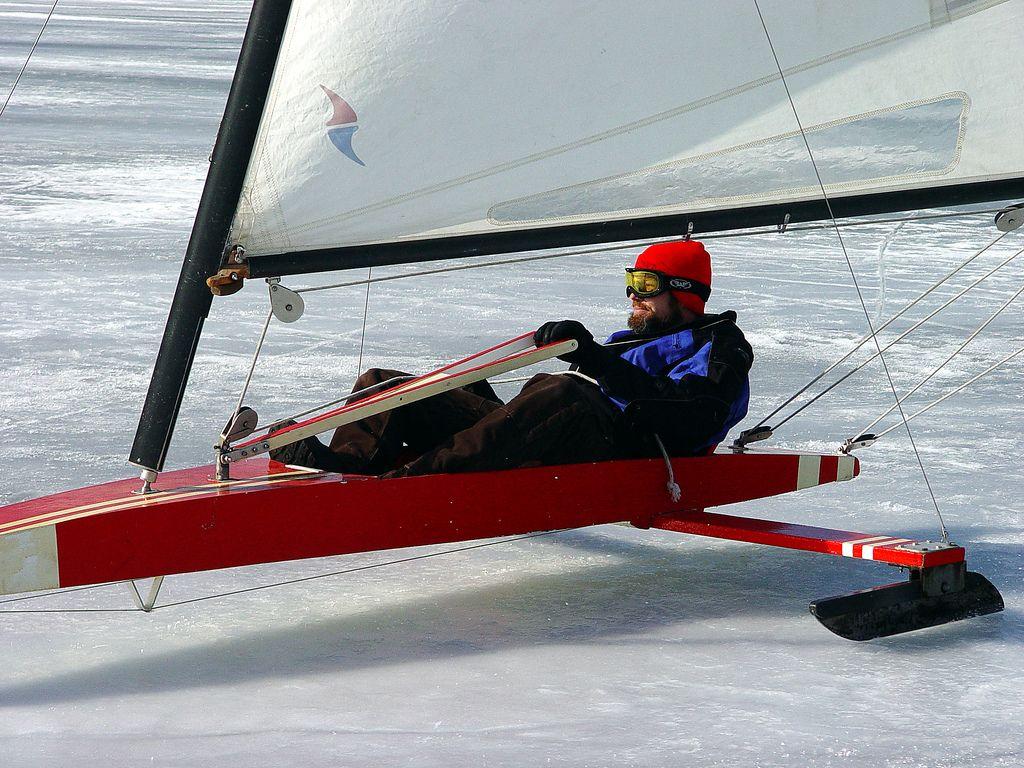"Iceboating Boyne City ""Slushfest"" in 2020 Boyne city"