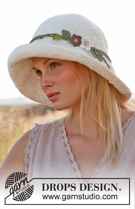 Free pattern: Crochet DROPS hat in 2 strands \