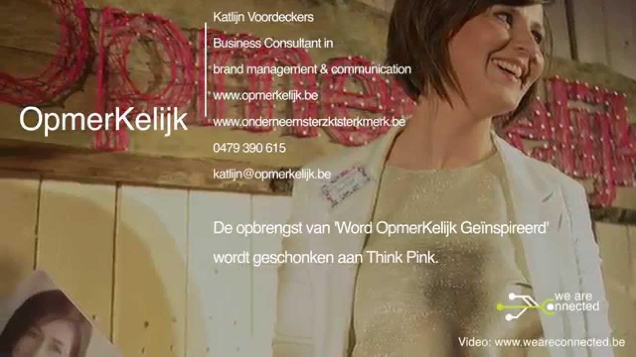Het videoverslag van een evenement geörganiseerd door Katlijn Voordeckers van OpmerKelijk. Voor meer videoreportages : info@weareconnected.be We are Connecte...
