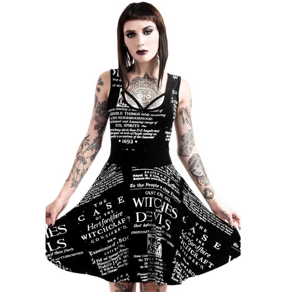 34416003598d10 Killstar Tryals skater jurk zwart wit