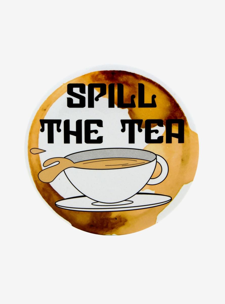 Spill The Tea Button Spills Tea Wallpaper Tea