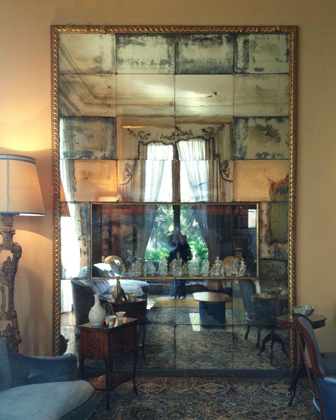 leslie williamson: note from milano/villa necchi. (big antiqued ...