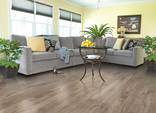 Light brown and gray laminate wood floor for living room for Cheap flooring ideas for living room