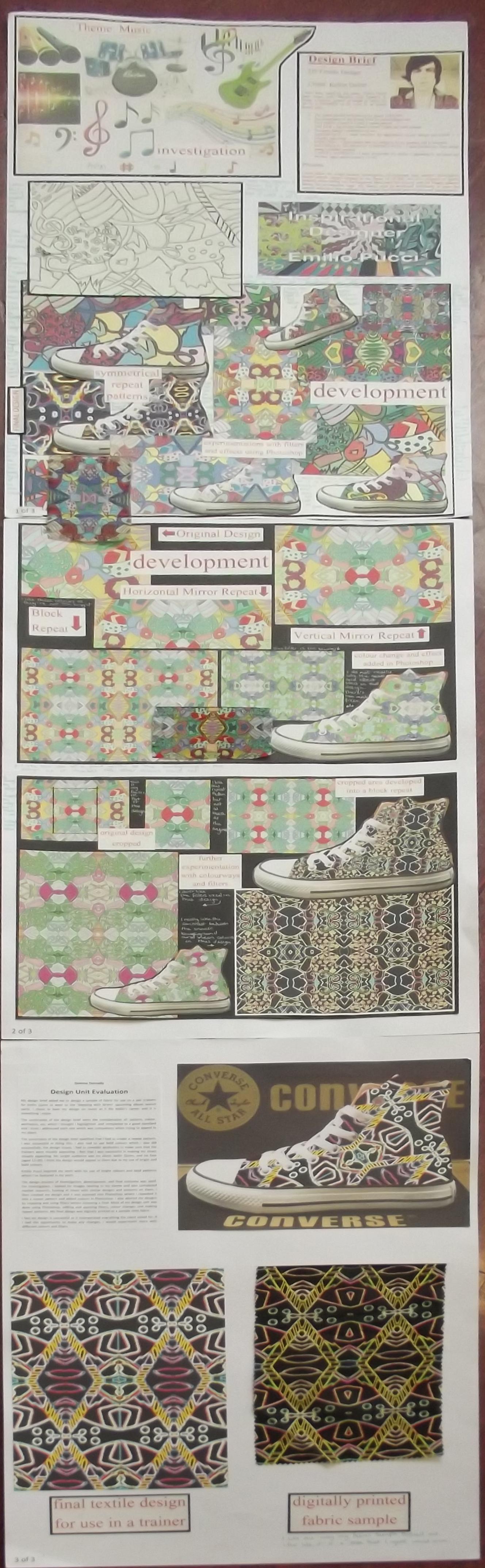 S4 National 5 Design Folio 2d Textile Design
