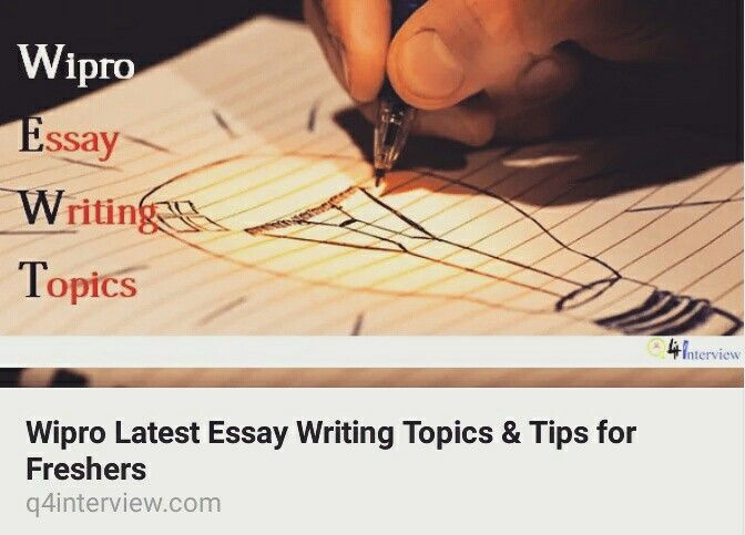 Living A Healthy Lifestyle Essay Latest Essay Writing Topic For Wipro At Freshers Level Theme For English B Essay also Interesting Essay Topics For High School Students Latest Essay Writing Topic For Wipro At Freshers Level  Essay  Writing Essay Papers