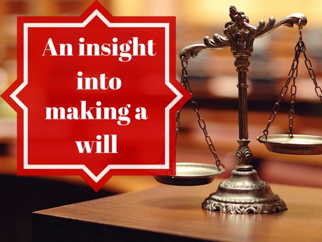 A guide to making a will