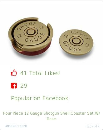 Top christmas gift on Facebook.  Top christmas gift on undefined 41 people likes on Internet. 29 facebook likes. zeckos amazon christmas gift. four piece 12 gauge shotgun shell coaster set w base from amazon christmas gifts. http://www.MostLikedGifts.com/top-popular-christmas-gifts/amazom-christmas-gift-B00FQLOE82-four-piece-12-gauge-shotgun-shell-coaster-set-w-base