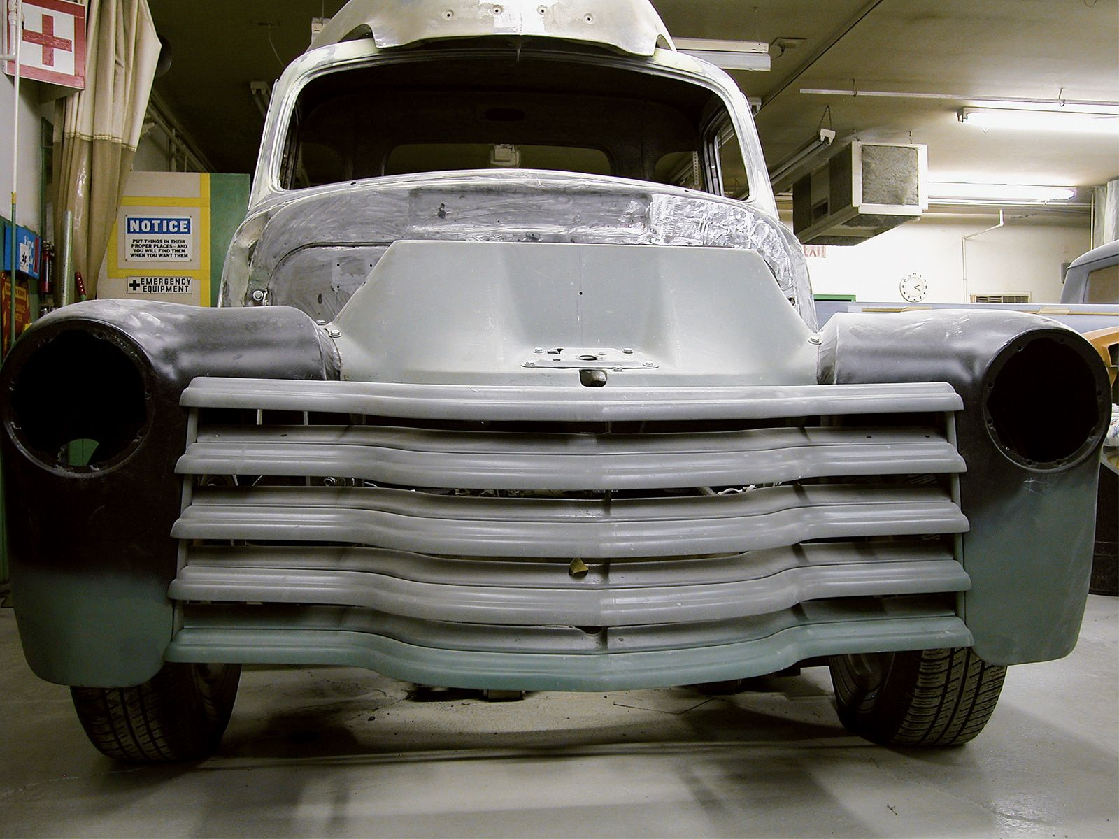 Learn how to install a grille on a 1954 Chevy Truck with