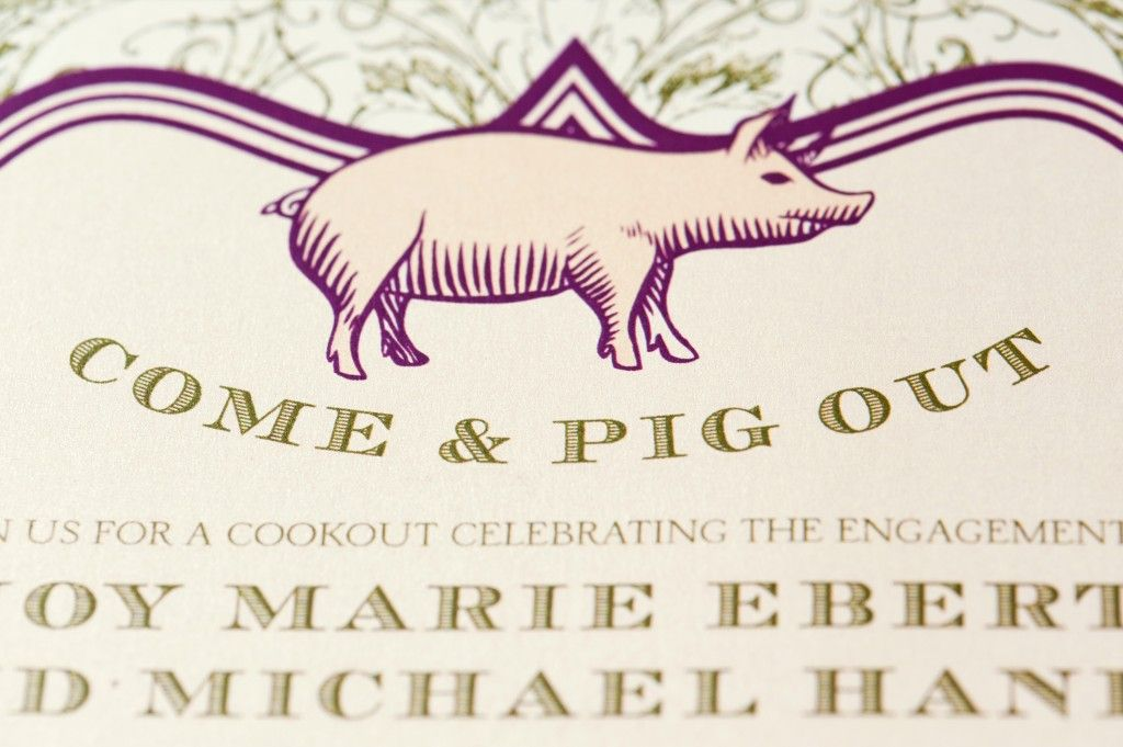 pig roast invitation, engagement party invitations, wedding ...