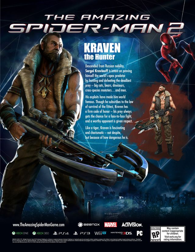 Kraven Hunts In New The Amazing Spider Man 2 Video Game Trailer