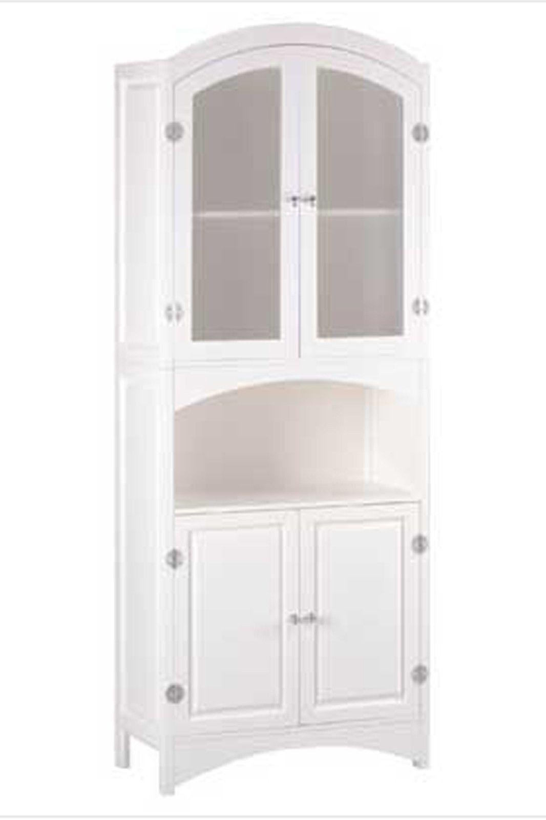 Linen Cabinet With Glass Doors 2020 In 2020 White Linen Cabinet Linen Cabinet Linen Storage Cabinet