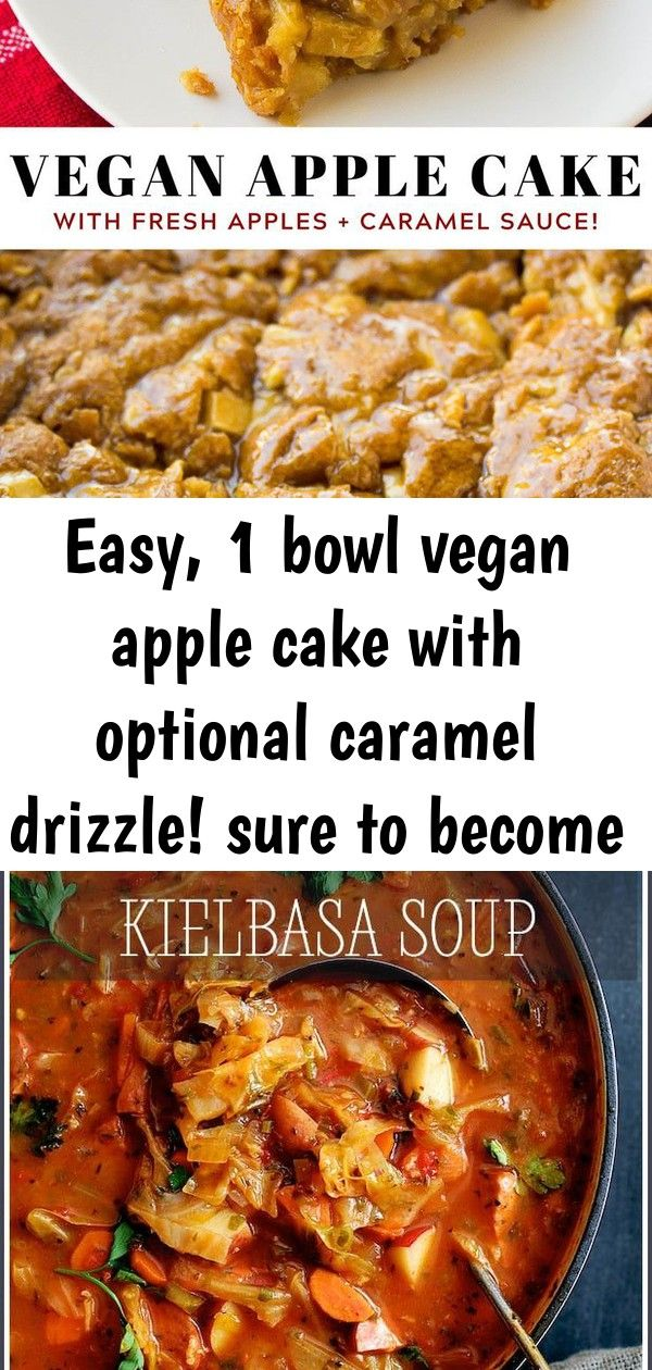 Easy 1 bowl vegan apple cake with optional caramel drizzle sure to become your 7 Easy 1 bowl Vegan Apple Cake with optional caramel drizzle Sure to become your  OldFashio...