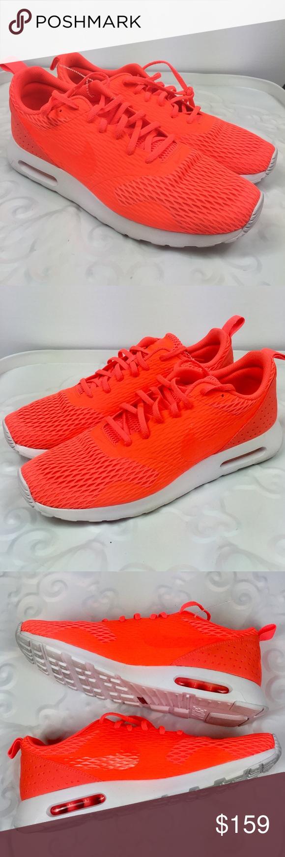 New NIKE Men Neon Orange Lace Sport