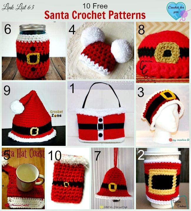10 Free Santa Crochet Patterns | Weihnachten, Weihnachtsdeko häkeln ...