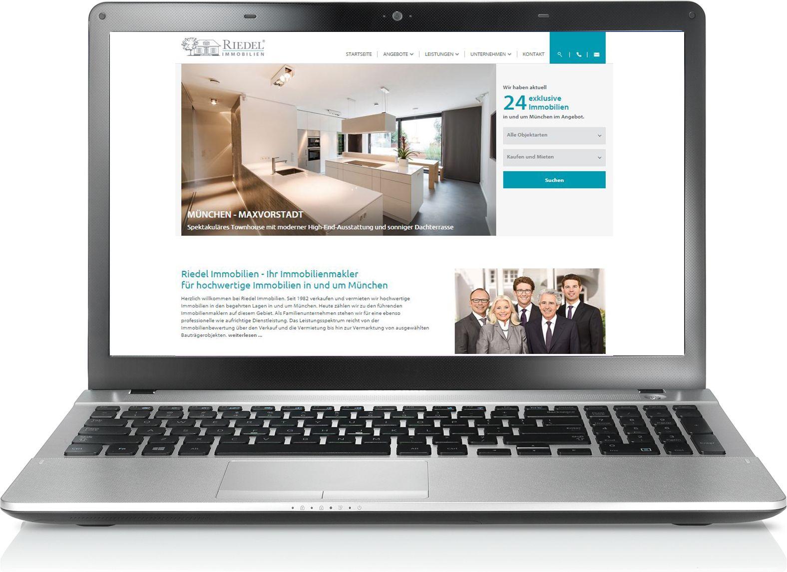 Website Relaunch: Riedel Immobilien mit neuem Internetauftritt. Am besten gleich vorbeischauen unter: http://www.riedel-immobilien.de