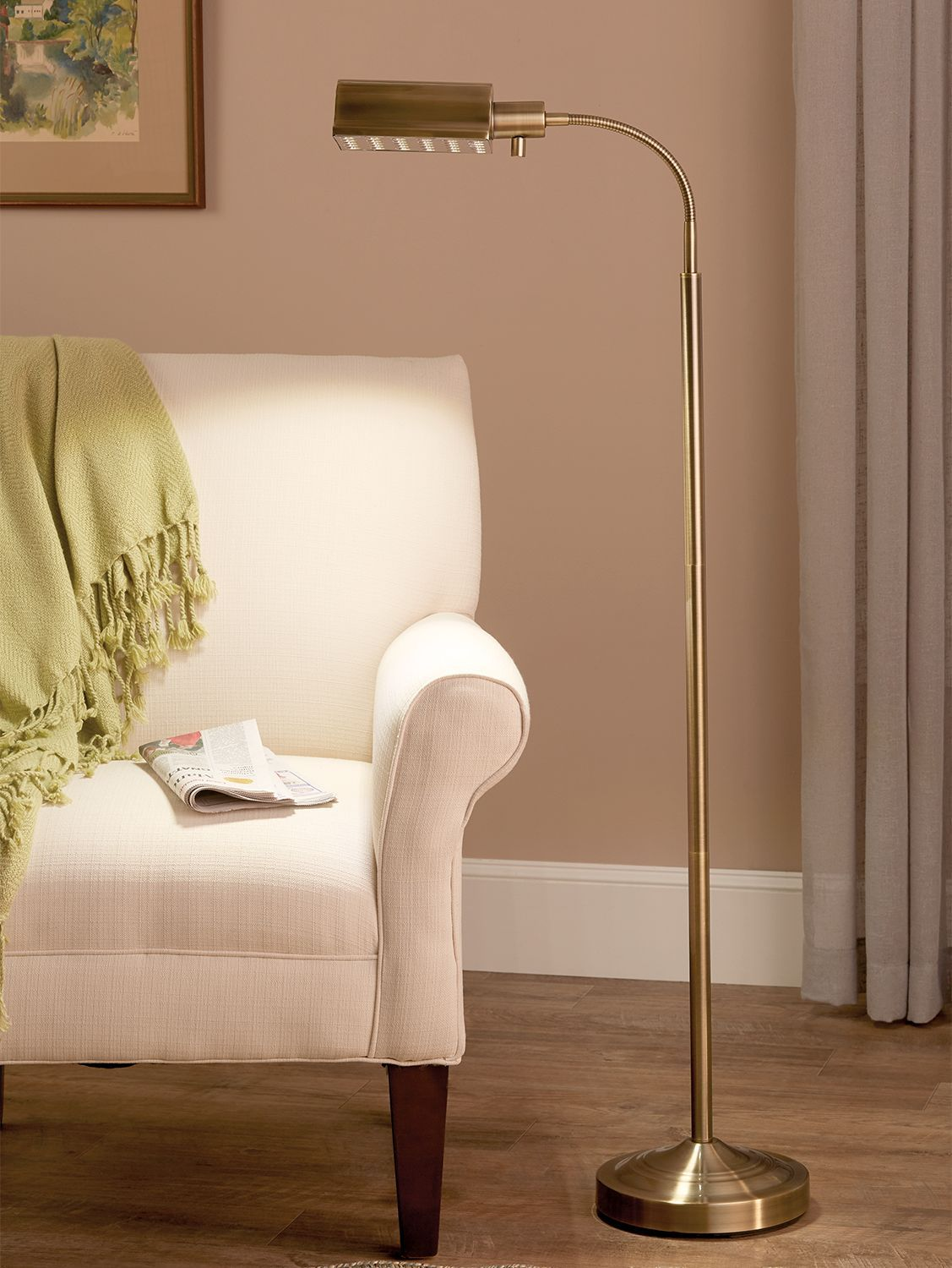 Let There Be Light Led Reading Lamp Runs On Batteries Or Plugs In