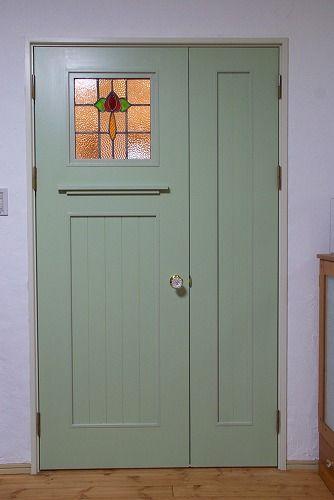 ステンドグラスの扉 ステンドグラスのドア ドアリフォーム