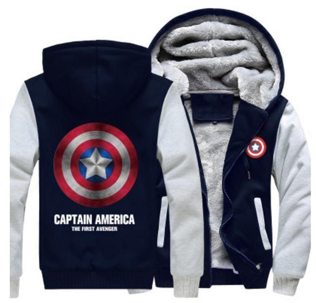 Captain America Shield Logo Hoodie