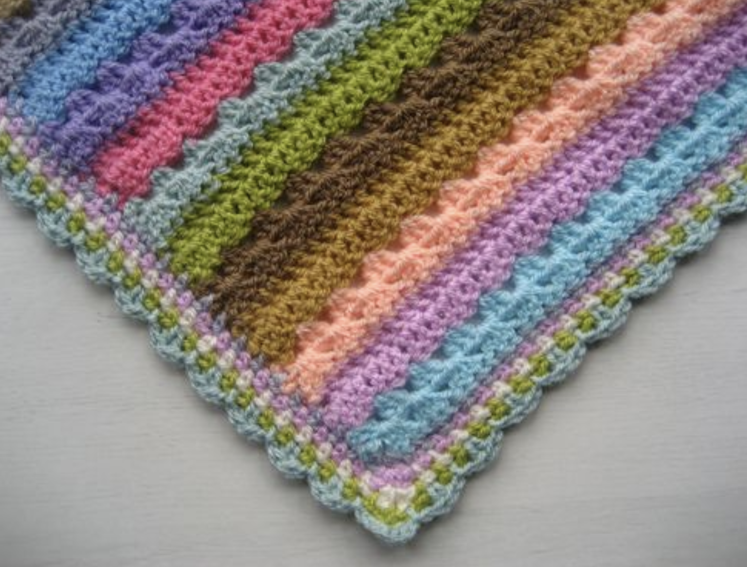 Linen Stitch Edging Linen Stitch Granny Stripe Crochet Crochet Blanket