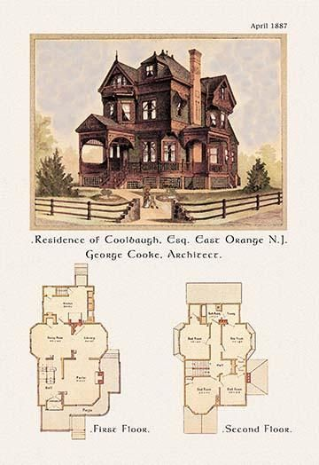 Residence Of F W Coolbaugh Esquire Vintage House Plans Victorian House Plans Victorian Homes