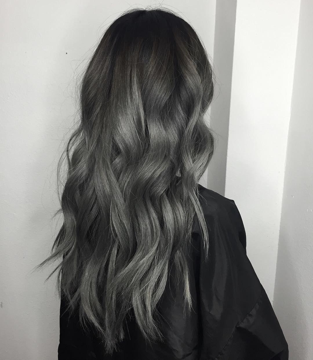 Instagram Korean Hair Color Grey Hair Color Ash Hair Color