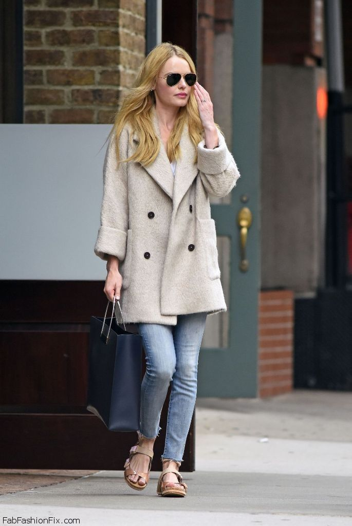 Kate Bosworth autumn street style in New York.