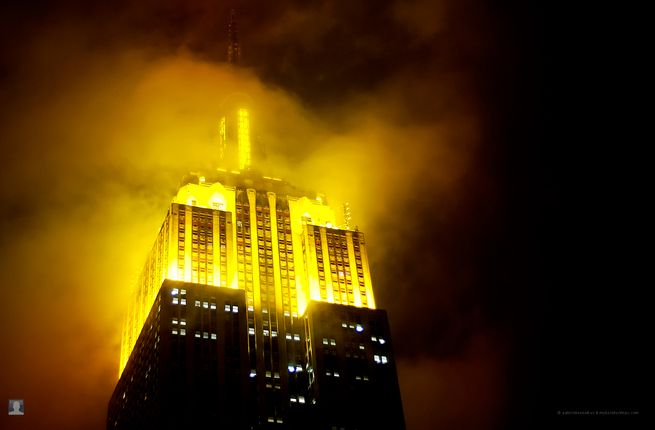 Yellow Empire State Building