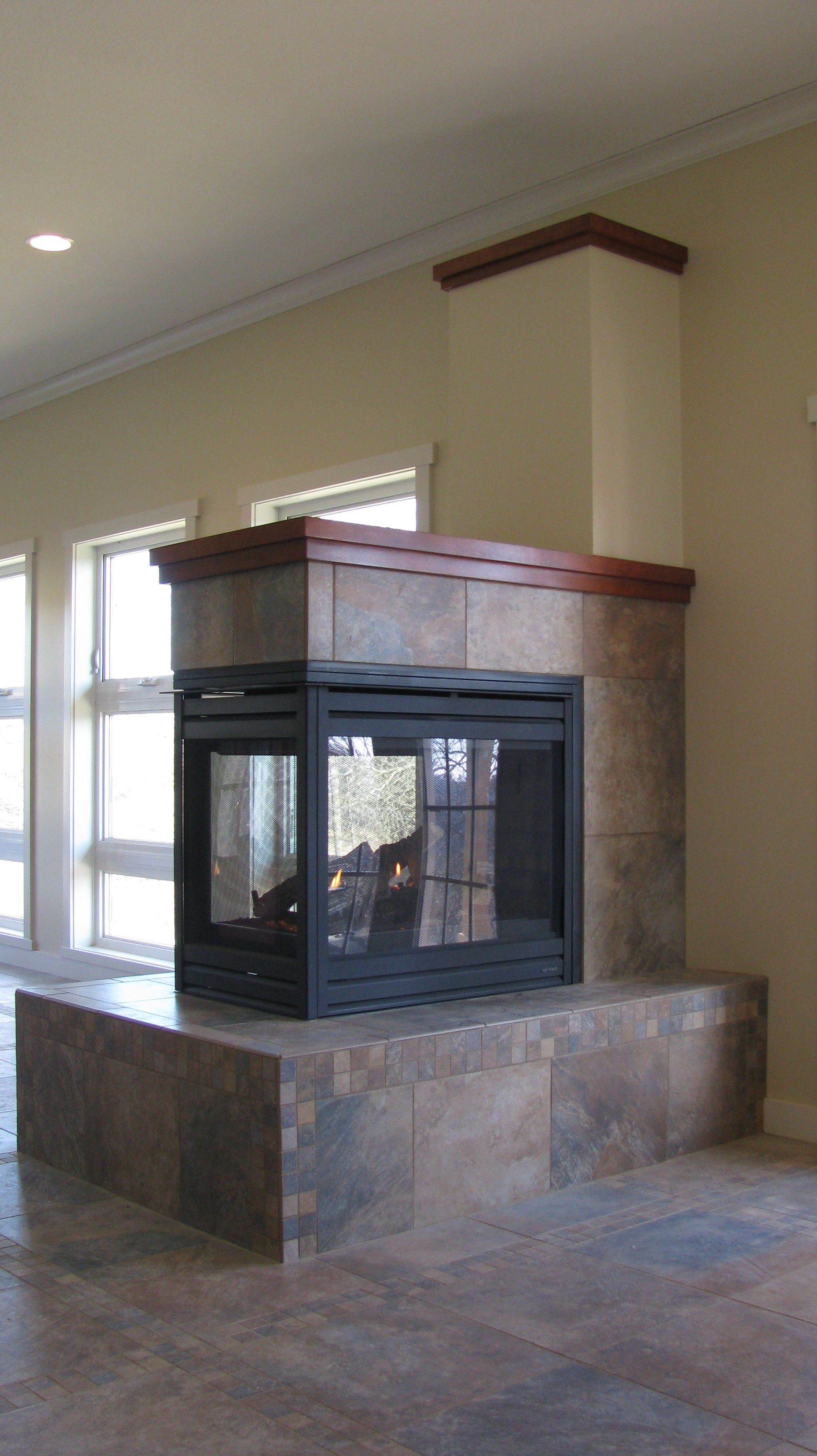 3 sided fireplace you can sit around fireplaces pinterest