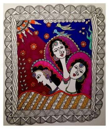 """Mimosa In Madhubani"" #Creative #Art in #painting @Touchtalent http://bit.ly/Touchtalent-p"