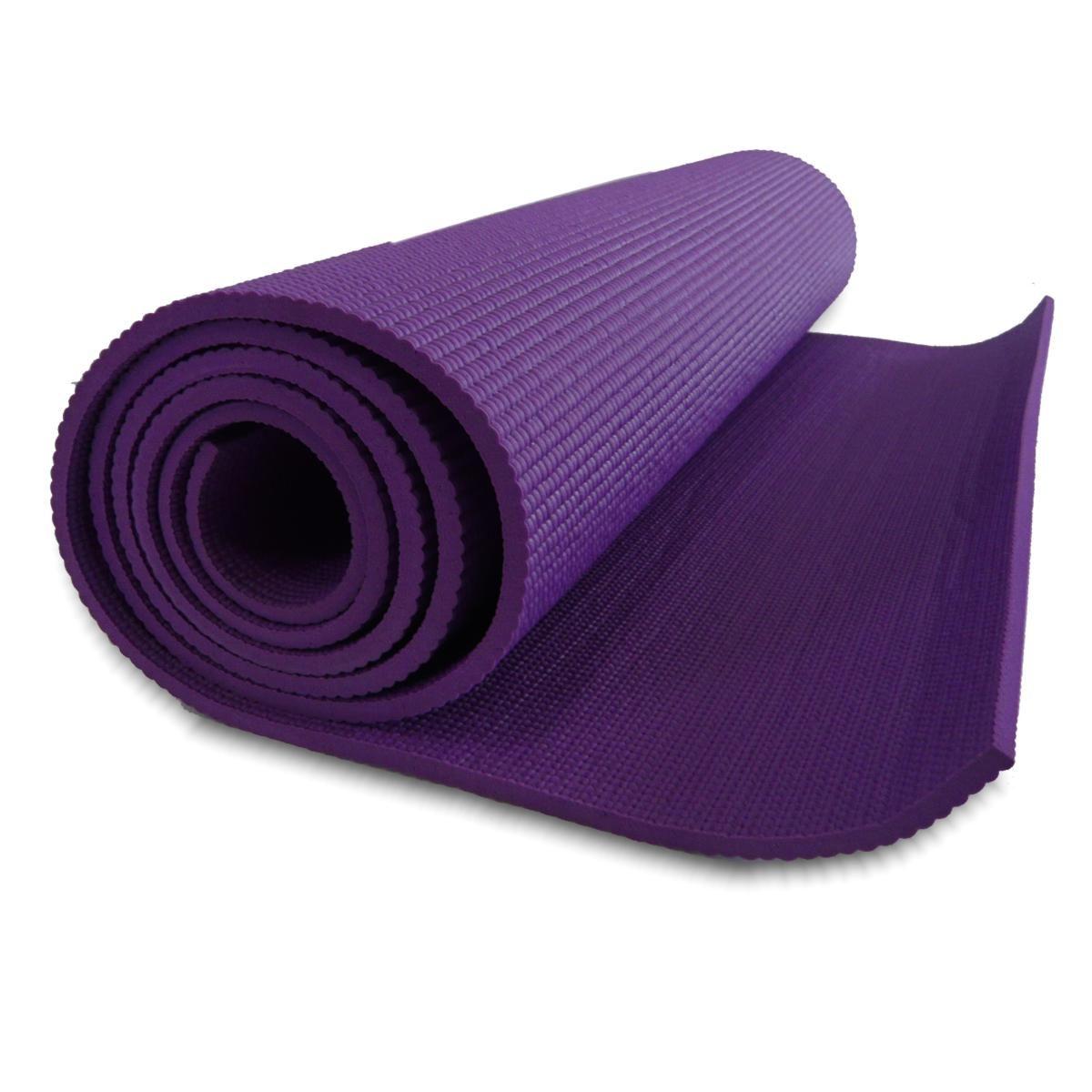 tapete para yoga 61x1,73m retangular pvc havan roxo   pinterest