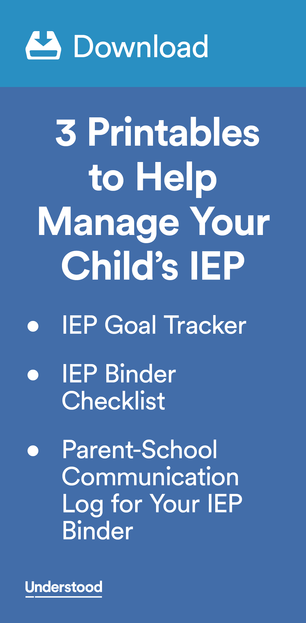 Printable Downloads to Help Manage Your Child\'s IEP | Pinterest ...