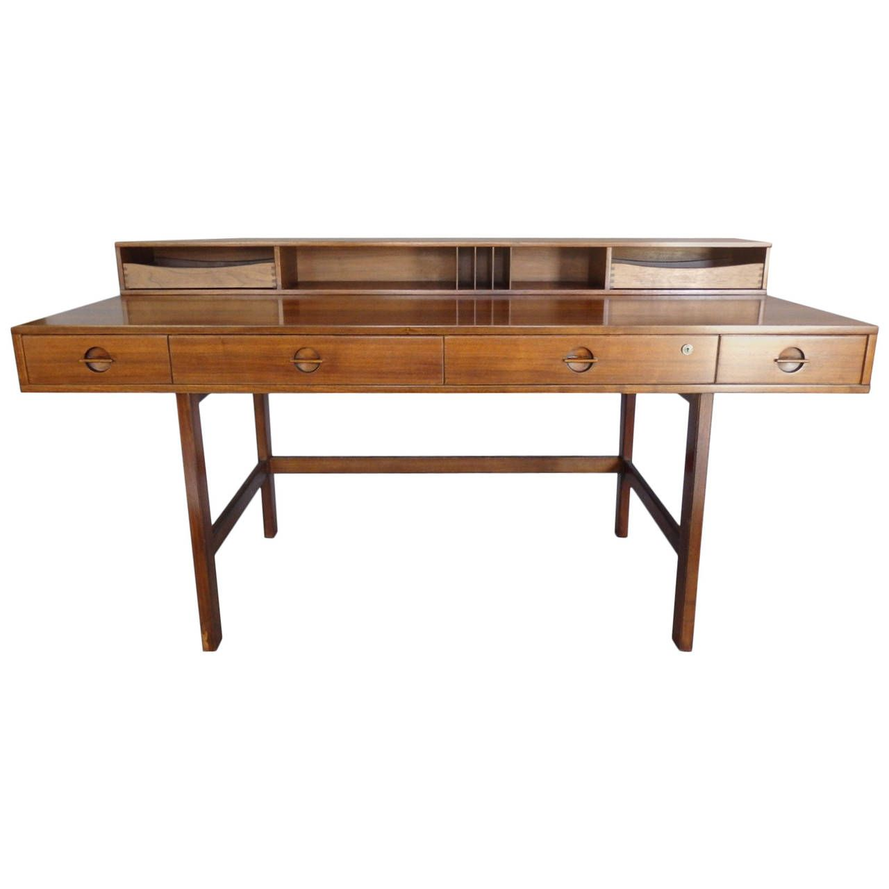 flip top desk. Peter Lovig Nielson Nicely Grained Walnut Flip-Top Desk Flip Top P