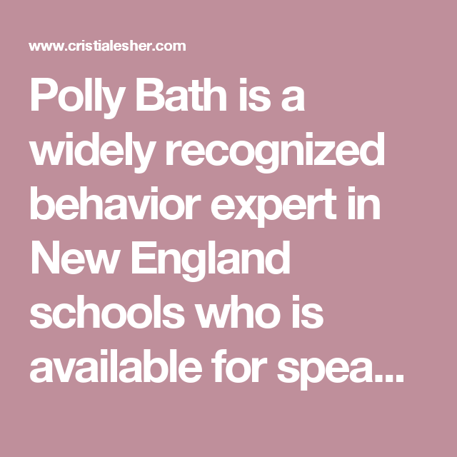Polly Bath is a widely recognized behavior expert in New