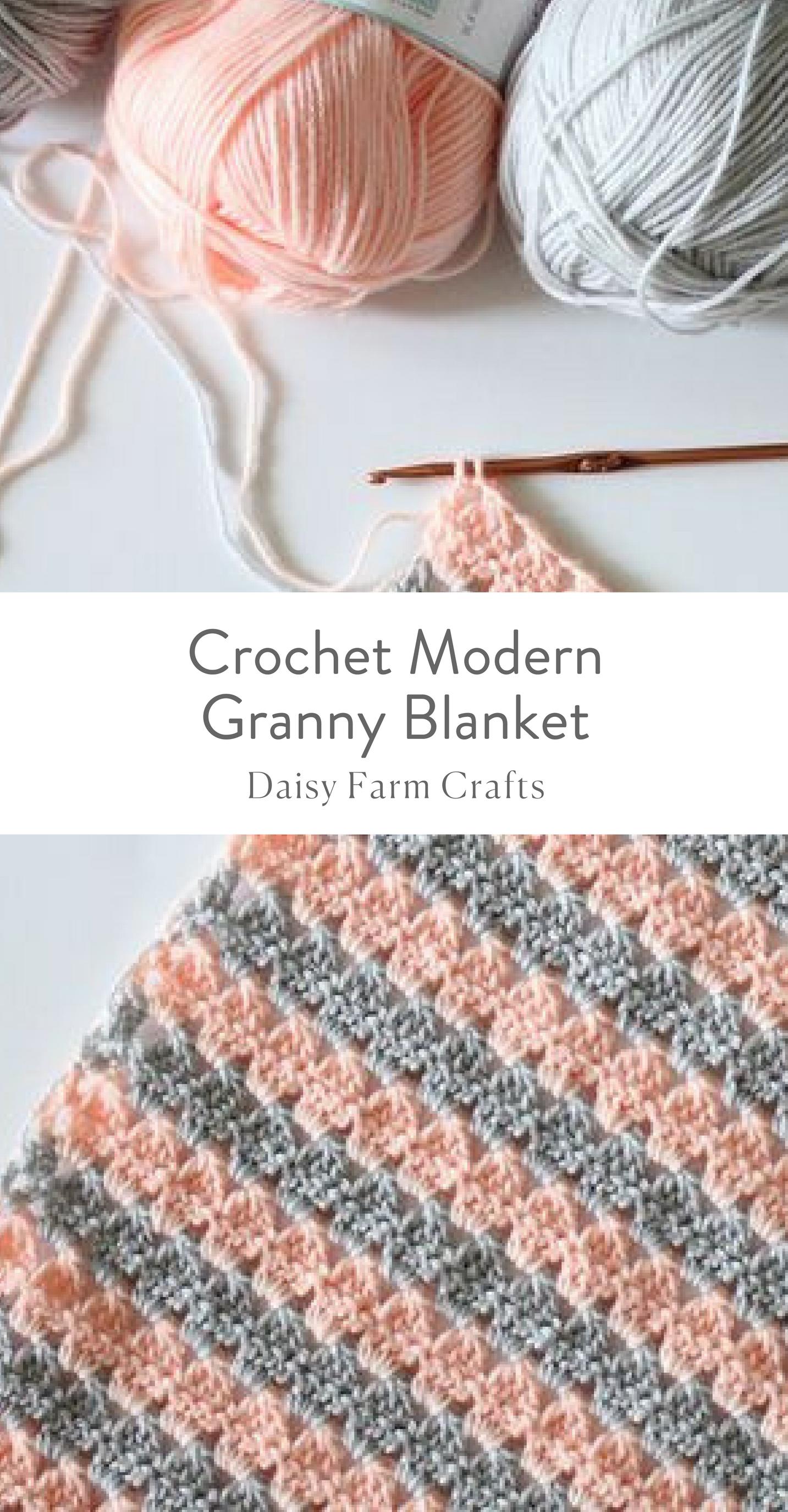 Free Pattern - Crochet Modern Granny Blanket | Baby | Pinterest ...
