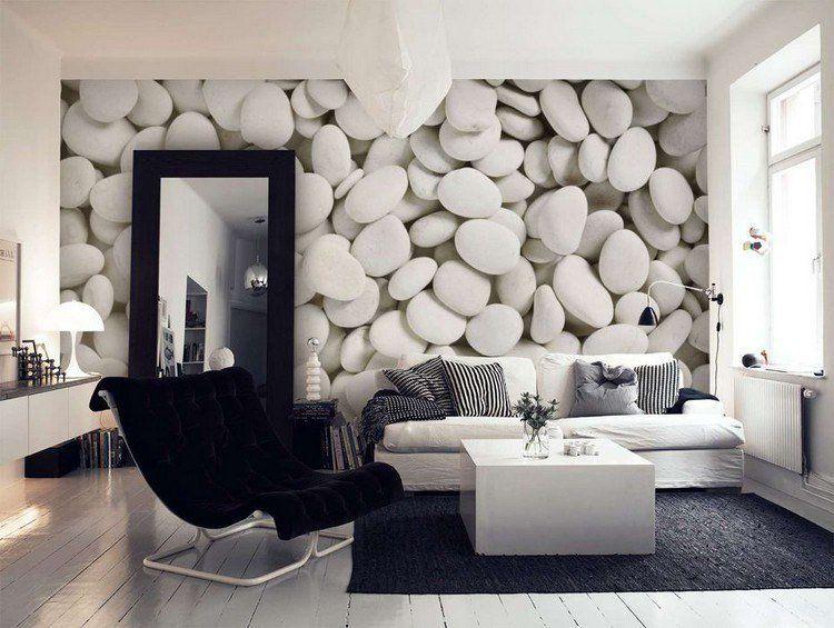 Attrayant Papier Peint Design Pour Salon #11: Papier Peint Trompe Lu0027œil - 33 Idées Pour Embellir Maison
