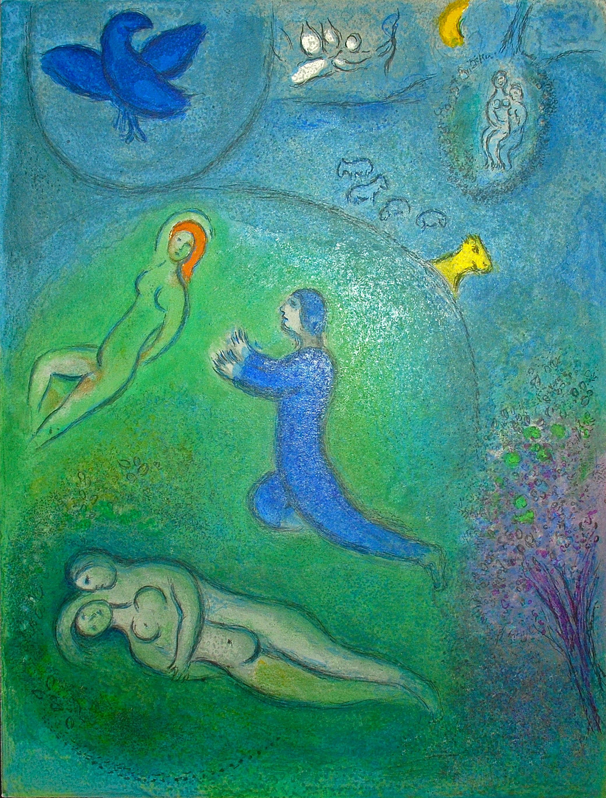 Marc Chagall Daphnis and Lycenion, from Daphnis and Chloe
